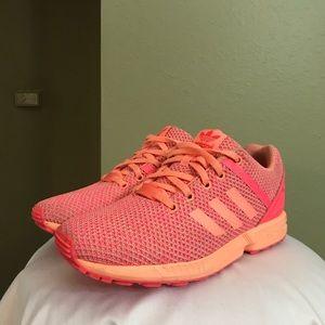 Adidas ZX Flux salmon pink color Mens 6 Women's 8